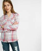 Express Plaid Boyfriend Shirt