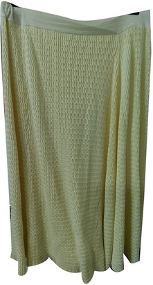 Cos Yellow Cotton Skirt for Women