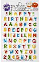 Wilton Happy Birthday Letters and Numbers Icing Decorations, 68ct