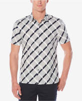 Perry Ellis Men's Optical Ribbon Striped Shirt