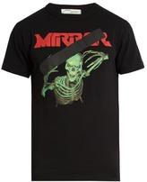 Off-White Skull Mirror-print cotton-jersey T-shirt