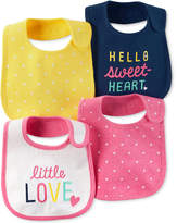 Carter's 4-Pk. Dot-Print Teething Bibs, Baby Girls