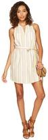 BB Dakota Petula Stripe Cotton Rayon Shirtdress Women's Dress