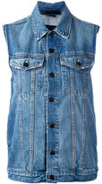 Alexander Wang sleeveless denim jacket - women - Cotton - XS