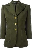 Alexander McQueen three button blazer - women - Silk/Cupro/Virgin Wool - 42