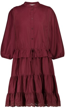 See by Chloe Broderie anglaise cotton minidress