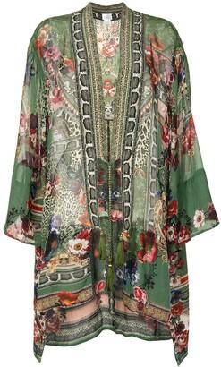 Camilla Floral Kimono Tie Blouse