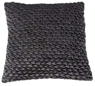 Decmode Modern 17 X 17 Inch Square Velvet Gray Pillow