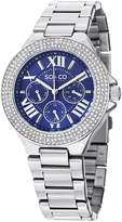 SO & CO New York Women's 5019.2 Madison Crystal-Accented Stainless Steel Watch with Link Bracelet