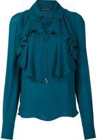 Plein Sud Jeans ruffled blouse - women - Silk - 40