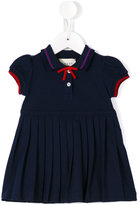 Gucci Kids - pleated skirt polo dress - kids - Cotton/Spandex/Elastane - 6-9 mth