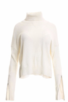Minnie Rose Zippered Sleeve Cashmere