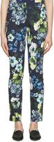 Erdem - Pantalon bleu marine Sidney