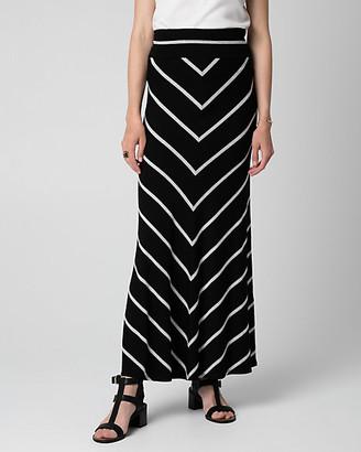 Le Château Stripe Jersey Maxi Skirt