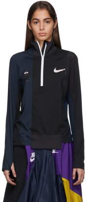 Nike Black and Navy Sacai Edition NRG Half-Zip Running Jacket