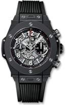 Hublot Men's 45mm Rubber Band Automatic Skeleton Dial Chronograph Watch 411.CI.1170.RX