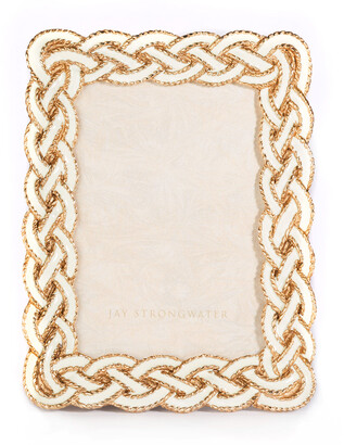 """Jay Strongwater Quinn Braided Picture Frame, 3.5"""" x 5"""""""