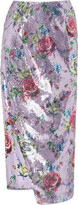 Prabal Gurung Sequined Floral-Print Pencil Skirt
