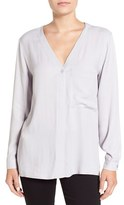 Topshop Women's Wrap Back Long Sleeve Blouse