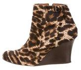 Lanvin Ponyhair Wedge Boots