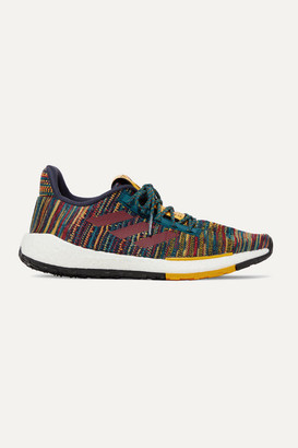 adidas + Missoni Pulseboost Crochet-knit Sneakers - Brown