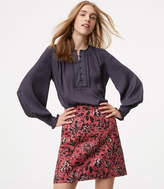 LOFT Floral Vine Shift Skirt
