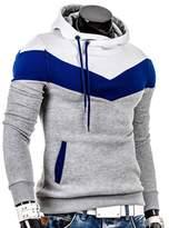 Bestgift men without Zip-up Hooded Short Coat M