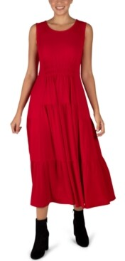 Robbie Bee Sleeveless Tiered Maxi Dress