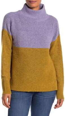 Susina Colorblock Turtleneck Sweater
