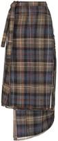 Y/Project asymmetric checked midi skirt
