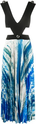 Christopher Kane Cut-Out Sleeveless Pleated Dress