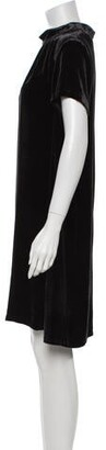 Anna Sui Mock Neck Mini Dress w/ Tags Black