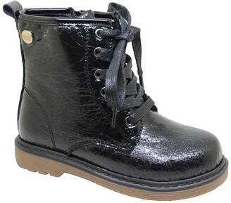 Nicole Miller Metallic Lace-Up Boot