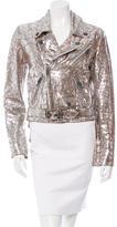 Chrome Hearts Silver-Embellished Leather Jacket