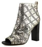 Calvin Klein Jules Women Round Toe Leather Bootie.