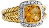 David Yurman 18K Citrine & Diamond Albion Ring
