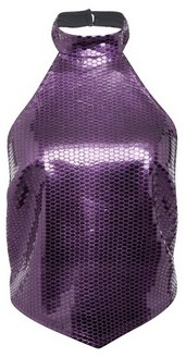 Dorothy Perkins Womens Lola Skye Purple Halter Top, Purple