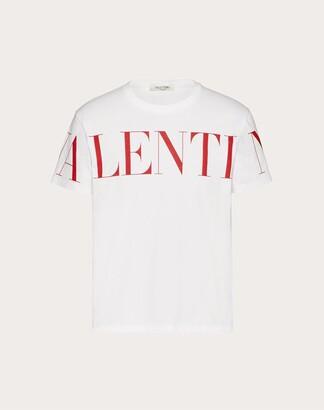 Valentino Uomo Print T-shirt Man White/red Cotton 100% S