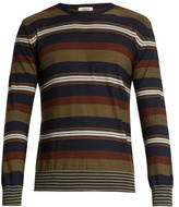 Valentino Striped Wool And Cashmere-blend Sweater