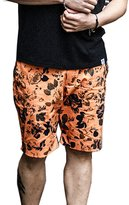 ME-JUCA Men's Summer Shorts Size Large Printed Flower Sports Pants