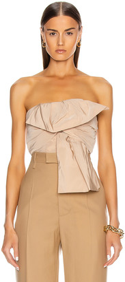 Givenchy Bow Bustier Top in Nude | FWRD