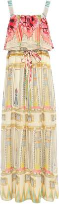 Temperley London Athena Layered Printed Voile Maxi Dress
