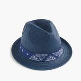 J.Crew Girls' straw trilby hat