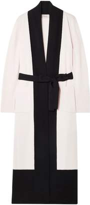 Temperley London Two-tone Merino Wool And Cashmere-blend Cardigan