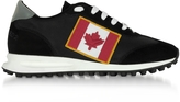 DSQUARED2 Black Nylon and Suede New Running Hiking Men's Sneakers