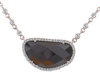 Meira T 14K Gold 0.23 Ct. Tw. Diamond & Hematite Necklace