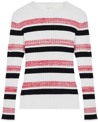 Maje Manuel Striped Rib-Knit Sweater