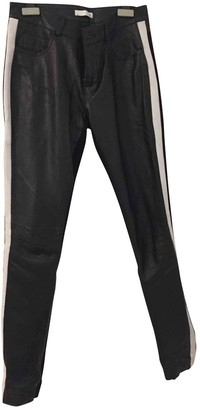 Supertrash Black Leather Trousers for Women