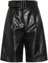 Self-Portrait Self Portrait Faux-leather Bermuda shorts