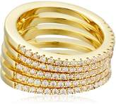 Noir Audley Gold Stackable Ring, Size 8